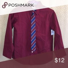 IZOD boys dress shirt with tie - size 10 Shirt is new. Comes with tie. Size 10 regular. Izod Shirts & Tops Tees - Long Sleeve