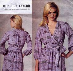 Vogue 1189 Rebecca Taylor Surplice Dress by PrettyPatternShop, $6.95