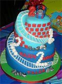 """Thomas The Tank Engine"" TV Show Train Happy 2nd Birthday Cake"