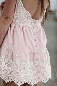 """Купить Платье """"Cute-Baby"""" - бледно-розовый, розовый, белый, платье, платье коктейльное"""