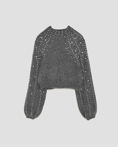 Weweya Pearl Beaded Sweater For Women Winter Pullovers Loose Wool Sweater Jumpers Vintage Beading Gray Warm Female Sweaters Cropped Pullover, Cropped Sweater, Grey Sweater, Knit Fashion, Fashion Outfits, Sweater Fashion, Pull Court, Diy Clothes, Clothes For Women