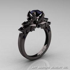 Classic+14K+Black+Gold+1.0+Carat+Black+Diamond+by+DesignMasters,+$1,899.00