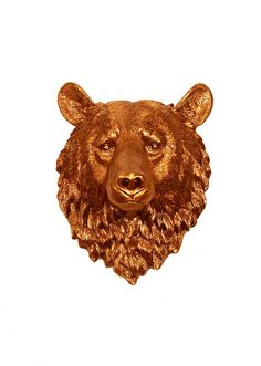 Faux Taxidermy  The Teddy  Copper Resin Bear by WhiteFauxTaxidermy, $94.99