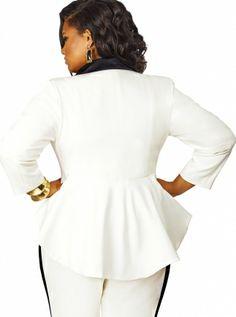 loving this tuxedo style jacket (Monif C)