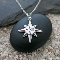 925 Sterling Silver Christmas Stars Northstar North Star Silhouette Charm