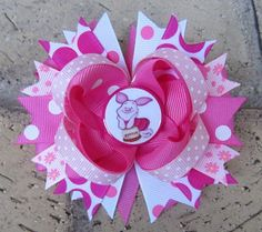 Piglet Tigger Winnie the Pooh Disney World Vacation Boutique Hair Bow Costume