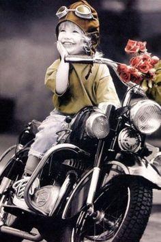 Vintage Biker Girl | Kim Anderson