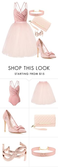 """""""Untitled #364"""" by dreamer3108 on Polyvore featuring Miss Selfridge, Ballet Beautiful, Charlotte Russe, Yves Saint Laurent and Johnny Loves Rosie"""