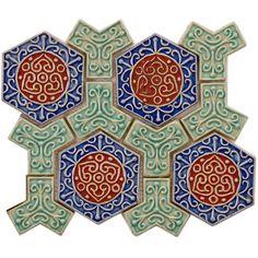 <li>Glazed ceramic mosaic tile</li>  <li>Glazed crackle finish with a high sheen and a slight variation in tone</li> <li>Easy to install 12 x 10 x .50 mesh mounted tiles</li>
