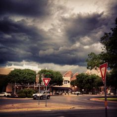 Fall weather in downtown New Braunfels, TX