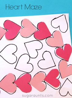 Visual perceptual activity with a DIY heart maze for Valentines Day. This is a good way to practice visual scanning, visual spatial relations, eye-hand coordination, and line awareness. Visual Perceptual Activities, Learning Activities, Activities For Kids, Creative Activities, Activity Ideas, Valentine Theme, Valentine Day Crafts, Preschool At Home, Preschool Education