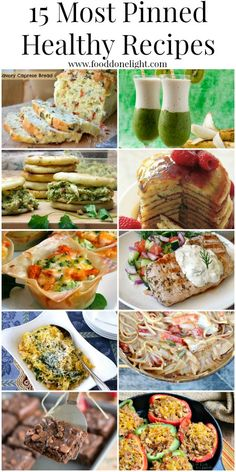 Most Pinned Healthy Recipes - Low Calorie, Low Fat