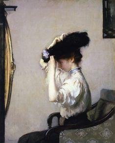preparing for the matinee - edmund charles tarbell - 1907 - indianapolis museum of art, indianapolis, IN.