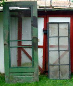 Vintage/Antique Wooden Screen Door with Bird Grille / 1950s ...