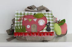 """Kindergartenrucksack """"kleine Maus im Apfelhaus"""""""