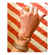 Welcome to the ARM PARTY!! Leave it to the FABULASH ban.do #girlgang to punch out this kind of razzle-dazzle!