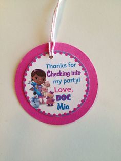 Doc McStuffins Custom Birthday Party Thank you Gift Tags