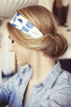 Use a scarf to DIY this 'do.