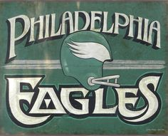 """# Philadelphia Eagle  fans ! check out my original retro """"faux vintage"""" Print for only $15. bux.  ZekesAntiqueSigns@etsy.com  I'm from the other side of Pa.-but i did serve.....USAF !"""