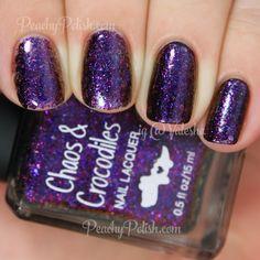 Chaos & Crocodiles Hidden Caves   Dreaming Of Dragons Collection   Peachy Polish - oh man...! #purple