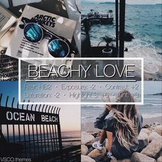"""437 Likes, 29 Comments - vsco themes (@vsco.themes) on Instagram: """"BEACHY LOVE 