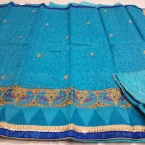 Kolkata kota with thread work embroidery Sarees | Buy Online...