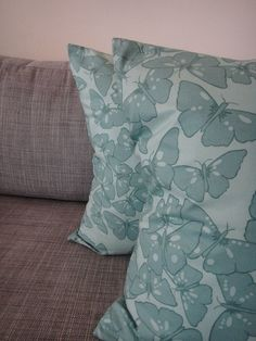 Pair of 70's Inspired Retro Butterfly Pillows Los Angeles by housecandyla, $99.00