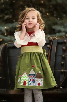 One Good Thread - Persnickety Clothing - Ginger Dress - Green House - Holiday, $112.00 (http://www.onegoodthread.com/persnickety-clothing-ginger-dress-green-house-holiday/)