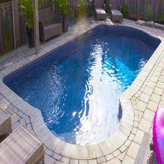 18 x 36 Rectangle In-ground Swimming Pool Kit - Pool Warehouse Swimming Pool Kits, Luxury Swimming Pools, Luxury Pools, Swimming Pool Designs, Backyard Pool Landscaping, Backyard Pool Designs, Backyard Ideas, Landscaping Ideas, Landscaping Edging