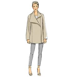 Very Easy Vogue coat sewing pattern. Vogue Patterns V9156, Misses' Coat