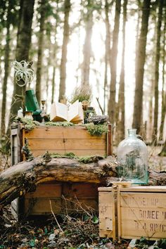 Forest wedding decor | Irinia Kilmova Photography | see more on: http://burnettsboards.com/2015/03/winter-forest-wedding/