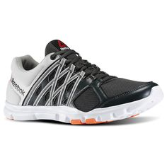 Need versatility? The functionally primed YourFlex (V72473) trainer tackles performance from the inside out with technical cushioning, a sleek lacing system that integrates support and a midsole cradle for poised positioning as you attack your fitness routine. A tri-zoned material mix meets targeted needs up and down the foot.