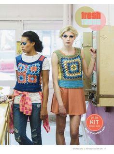 Crochetemoda: Crochet vests