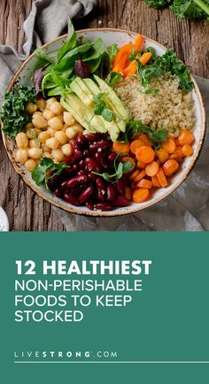 Always keep these healthy non-perishable food items stocked in your pantry to build nutritious meals and snacks in minutes when you can't go to the store. Healthy Eating Habits, Healthy Snacks, Real Food Recipes, Vegan Recipes, Vegan Meals, Non Perishable Food Items, Incredible Recipes, Cooking Ingredients, Food Lists