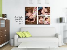 Photo canvas cluster