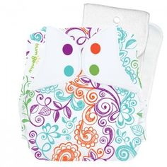bumGenius Stay-Dry 4.0 with snaps   Lovelace print # cottonbabies
