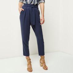 Trousers for Women Tapered Trousers, Slacks, Harem Pants, Navy Blue, Leggings, Legs, Model, Collection, Style