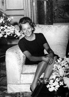 Paola Ruffo di Calabria, future queen of Belgians, on 14 April 1959 in Laeken