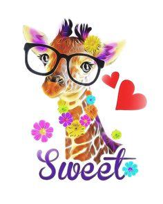 Cute giraffe cartoon-T-shirt Graphics-Giraffe character on Behance