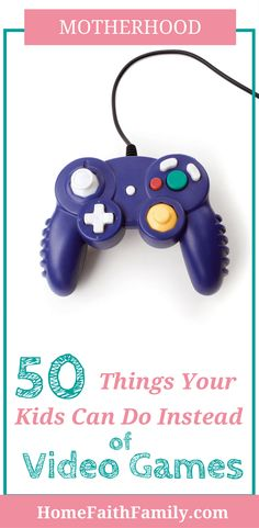 Are your kids spending too much time playing video games? Here's a list of 50 alternative activities to video games that any age will enjoy. Activities For Teens, Free Activities, Infant Activities, Family Activities, Games For Kids, Indoor Activities, Summer Activities, Parenting Toddlers, Kids And Parenting
