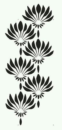 Art deco pattern - pattern stencil for walls art deco pattern fan flowers large allover wall stencil reusable easy diy home decor Stencil Wall Art, Leaf Stencil, Stencil Diy, Stencil Designs, Wall Stenciling, Stencil Printing, Pattern Wall, Art Deco Pattern, Wall Patterns