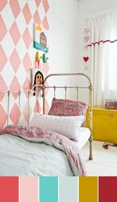 Kleuren voor meisjeskamer maar dan met gewoon zonnig geel