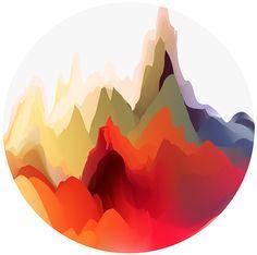 Maria Gronlund / Color landscapes #mesh #color #graphic