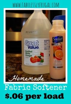 Want to ditch the chemicals, but need a fabric softener? You can mix up a homemade fabric softener in no time with this quick and easy tutorial!