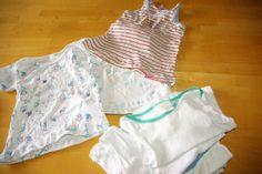 Unterhemden aus Babybodies / Underwear made from bodysuits / Upcycling