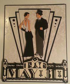 Art Deco Anniversary card