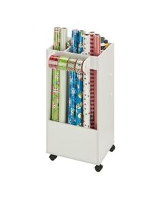 Honey Can Do Storage Cart with Fabric Drawer & Reviews - Cleaning & Organization - Home - Macy's #SatinFabric Gift Bag Organization, Wrapping Paper Organization, Sewing Room Organization, Fabric Drawers, Fabric Storage, Paper Storage, Craft Storage Cart, Storage Ideas, Sewing Room Furniture