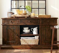 Cortona Wood Buffet, Alfresco Brown Finish. Dining Room BuffetBuffet  TablesDining ...