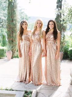 9cc73e82cb8 Sequin bridesmaid dresses and separates you will fall in love with. All  your bridesmaids will glitter and sparkle in these sequin dresses