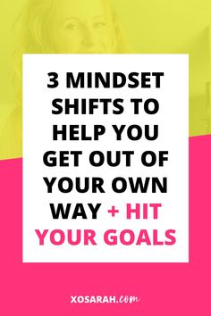I've written my way through A TON of mindset blocks and (after sitting on this project for years) turned these stories and actions into a series that you can now get your hands on! // XO Sarah -- #businessmindset #goalsetting